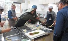「男の料理教室」♪ロールキャベツ♪焼きれんこんまんじゅう♪キャベツと海藻サラダ♪コーヒーブラマンジェ♪